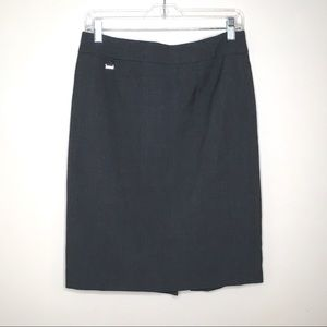 Calvin Klein Dark Gray Pencil Skirt